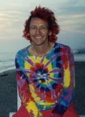 Tie_Dyed Red Head on 4th July 2001 at Hermosa Beach - photo by hottie Cyn
