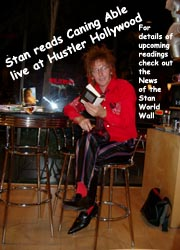 Stan reads Caning Able at Hustler Hollywood - photo by Cyn